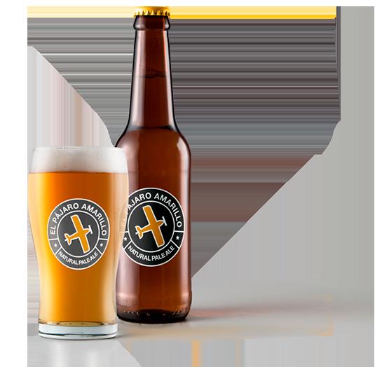 cerveza pale-ale y vaso