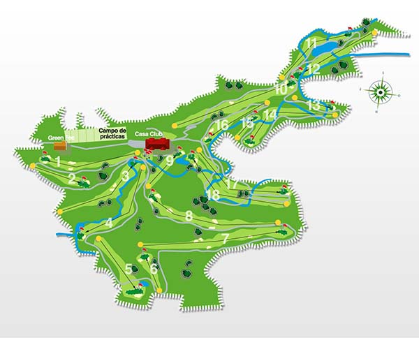 mapa del campo de golf de santa marina cantabria