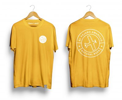 Camiseta T Shirt Color El Pájaro Amarillo