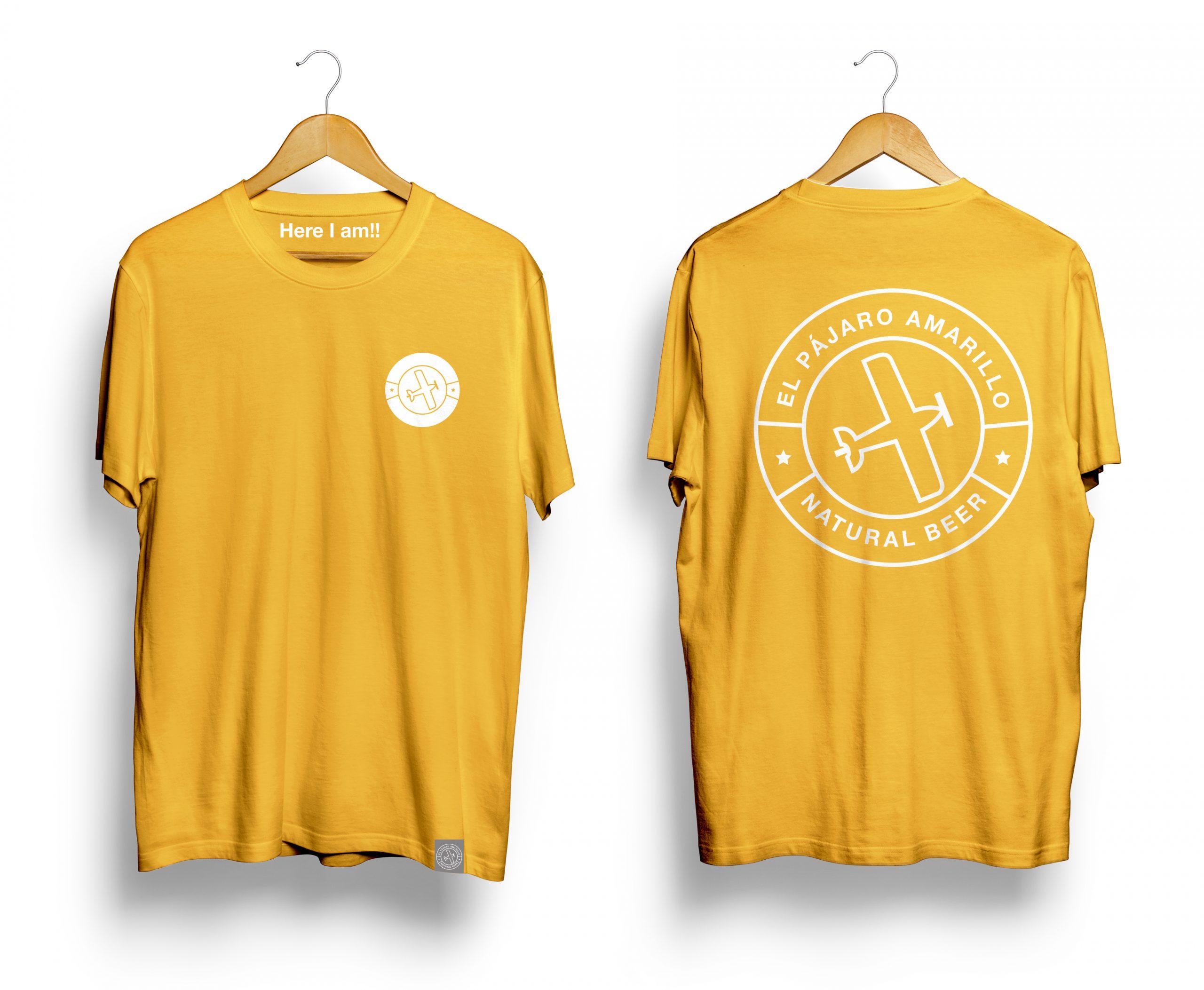 Camiseta T Shirt Color El Pájaro Amarillo